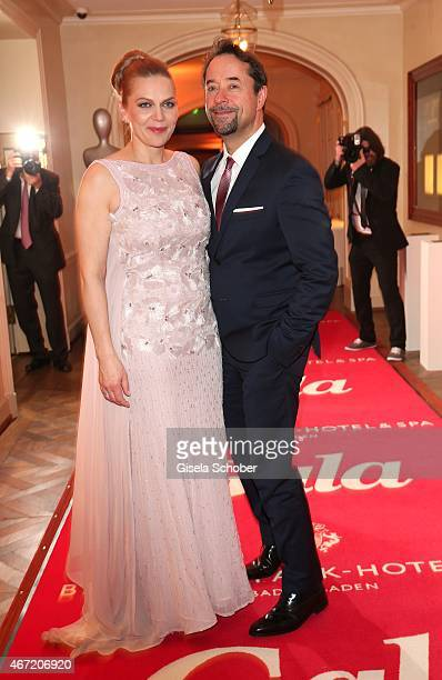 JanJosef Liefers and his wife Anna Loos during the Gala Spa Awards 2015 at Brenners ParkHotel Spa on March 21 2015 in BadenBaden Germany
