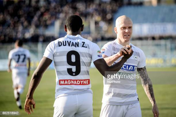 Jankto Jacub after the goal during the Italian Serie A football match Pescara vs Udinese on March 15 in Pescara Italy