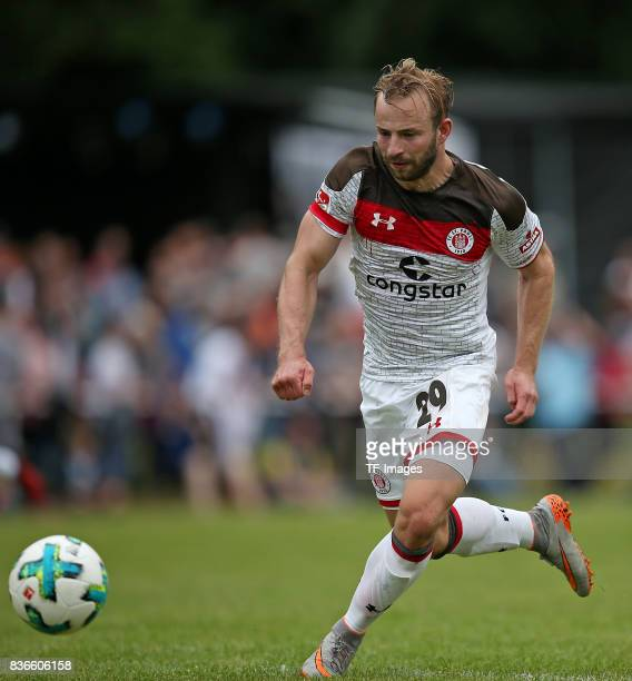 JanMarc Schneider of St Pauli controls the ball during the preseason friendly match between VfB Oldenburg and FC St Pauli on July 8 2017 in Varel...