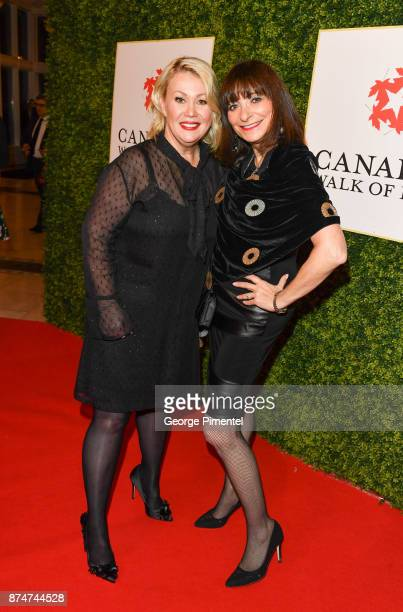 Jann Arden and Jeanne Beker attend 2017 Canada's Walk of Fame at The Liberty Grand on November 15 2017 in Toronto Canada