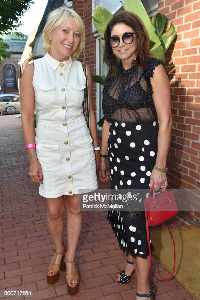 Guest and Caroline Hirsch attend Lisa Jackson hosts LJ Cross Rose Shopping Event at Copious Row on June 24 2017 in Southampton New York