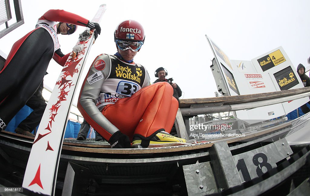Janne Ahonen of Finland competes during the FIS Ski Jumping World Cup event at the 58th Four Hills Ski Jumping Tournament on December 29, 2009 in Oberstdorf, Germany.