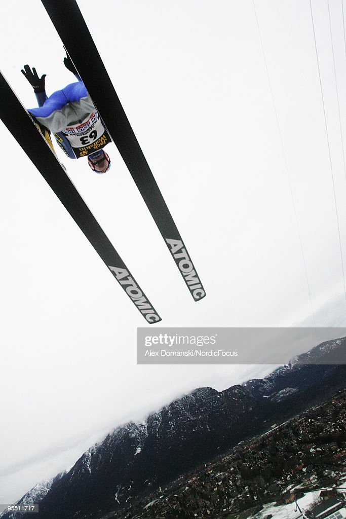 Janne Ahonen of Finland competes during the FIS Ski Jumping World Cup event of the 58th Four Hills Ski Jumping Tournament on December 31, 2009 in Garmisch-Partenkirchen, Germany.