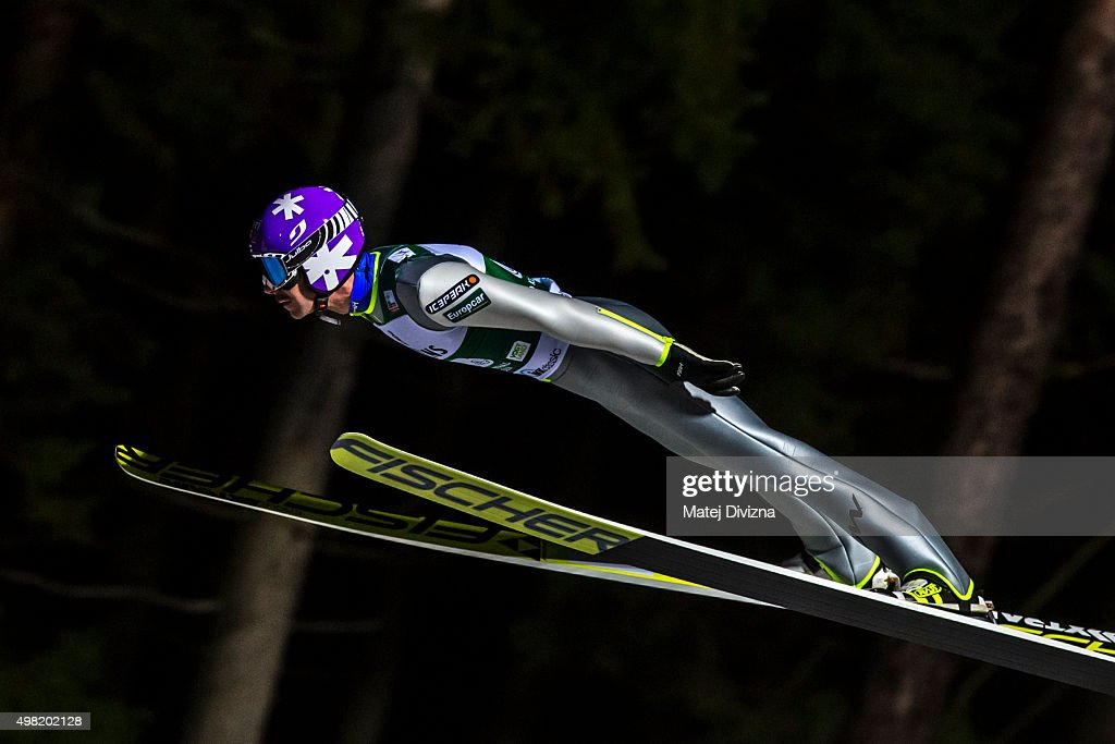 <a gi-track='captionPersonalityLinkClicked' href=/galleries/search?phrase=Janne+Ahonen&family=editorial&specificpeople=206764 ng-click='$event.stopPropagation()'>Janne Ahonen</a> of Finland competes during the team competition at the FIS World Cup Ski Jumping day two on November 21, 2015 in Klingenthal, Germany.
