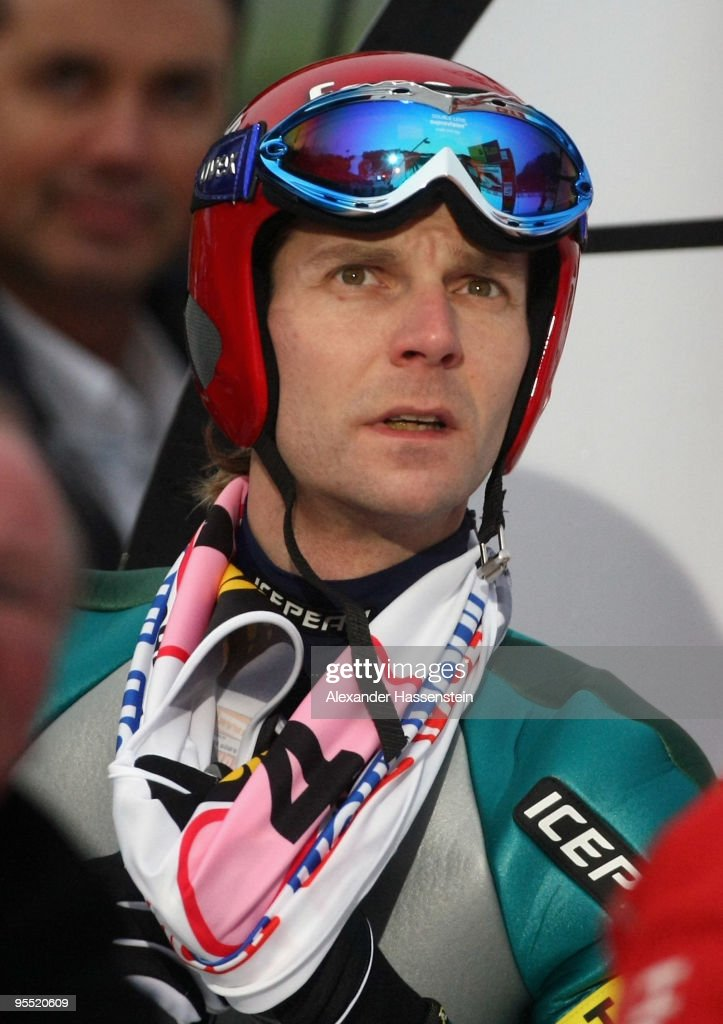 <a gi-track='captionPersonalityLinkClicked' href=/galleries/search?phrase=Janne+Ahonen&family=editorial&specificpeople=206764 ng-click='$event.stopPropagation()'>Janne Ahonen</a> of Finland looks on after his final jump during the FIS Ski Jumping World Cup event of the 58th Four Hills ski jumping tournament at the Olympiaschanze on January 1, 2010 in Garmisch-Partenkirchen, Germany.