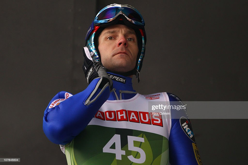 <a gi-track='captionPersonalityLinkClicked' href=/galleries/search?phrase=Janne+Ahonen&family=editorial&specificpeople=206764 ng-click='$event.stopPropagation()'>Janne Ahonen</a> of Finland prepares for the training for the FIS Ski Jumping World Cup event of the 59th Four Hills ski jumping tournament at Bergisel on January 2, 2011 in Innsbruck, Austria.