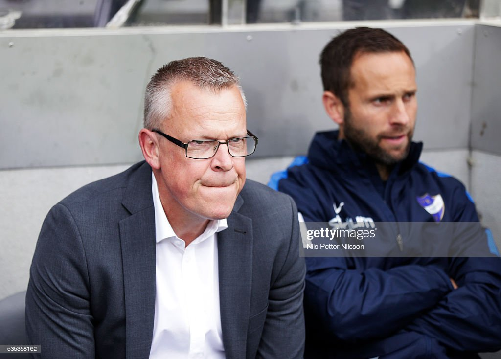 Janne Andersson, head coach of IFK Norrkoping during the Allsvenskan match between IFK Norrkoping and IF Elfsborg at Ostgotaporten on May 29, 2016 in Norrkoping, Sweden.