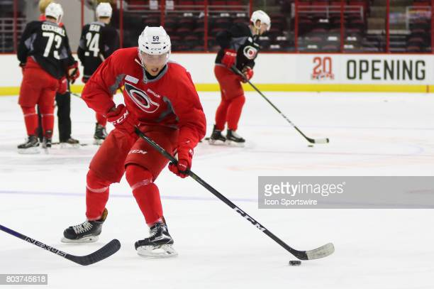 Janne Kuokkanen during the Carolina Hurricanes Development Camp on June 29 2017 at the PNC Arena in Raleigh NC