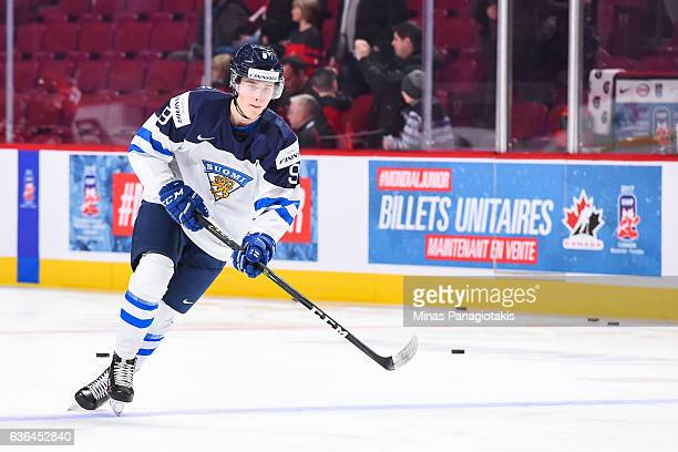 Janne Kuokkanen of Team Finland skates during the warmup prior to the IIHF exhibition game against Team Canada at the Bell Centre on December 19 2016...