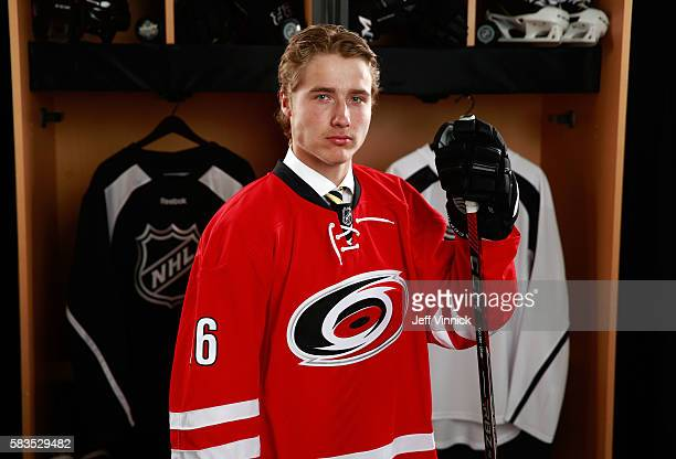Janne Kuokkanen poses for a portrait after being selected 43rd overall by the Carolina Hurricanes during the 2016 NHL Draft at First Niagara Center...