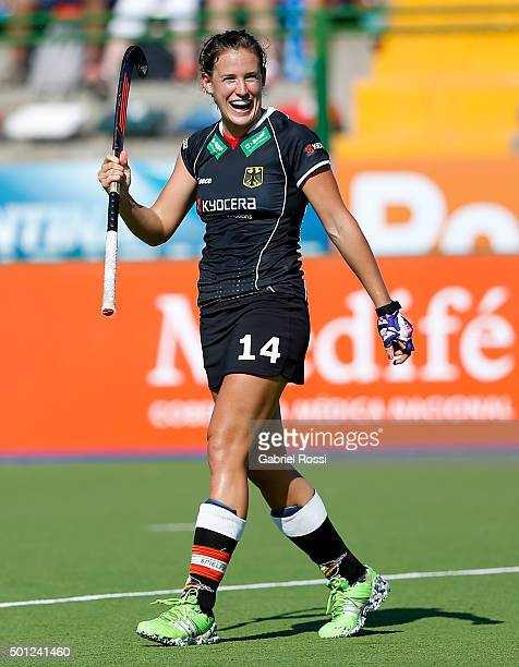 Janne MullerWieland of Germany celebrates after scoring the fourth goal of her team during the bronze medal match between China and Germany as part...