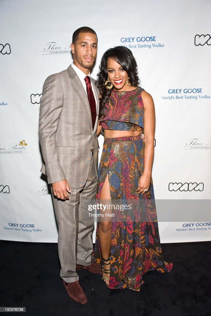 Jannero and Malaysia Pargo attend the 3 Beats launch party at the W Hotel Chicago on November 11, 2011 in Chicago, Illinois.