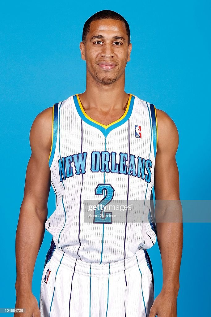 <a gi-track='captionPersonalityLinkClicked' href=/galleries/search?phrase=Jannero+Pargo&family=editorial&specificpeople=206618 ng-click='$event.stopPropagation()'>Jannero Pargo</a> #2 of the New Orleans Hornets poses for a portrait during 2010 NBA Media Day on September 27, 2010 at the New Orleans Arena in New Orleans, Louisiana.