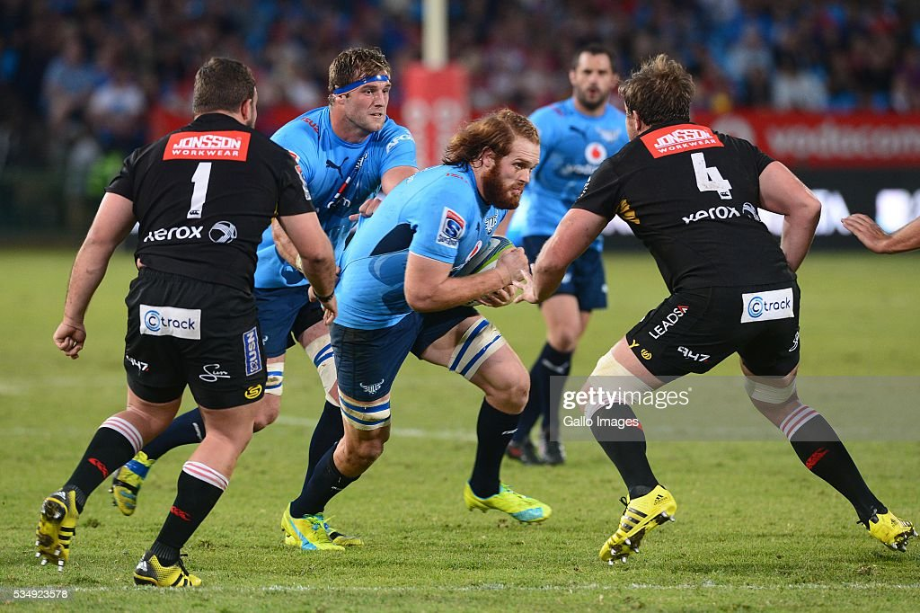 Jannes Kirsten of the Bulls during the Super Rugby match between the Vodacom Bulls and Emirates Lions at Lotus Versfeld Stadium on May 28, 2016 in Pretoria, South Africa.