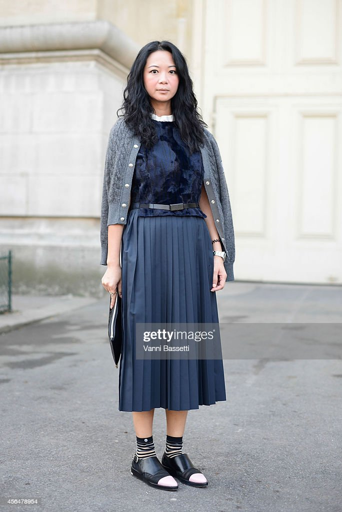 Street Style Paris Fashion Week Womenswear S S 2015 October 1st Getty Images