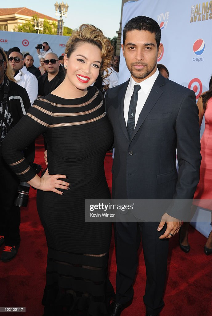 Janney 'Chiquis' Marin (L) and <a gi-track='captionPersonalityLinkClicked' href=/galleries/search?phrase=Wilmer+Valderrama&family=editorial&specificpeople=202028 ng-click='$event.stopPropagation()'>Wilmer Valderrama</a> arrive at the 2012 NCLR ALMA Awards at Pasadena Civic Auditorium on September 16, 2012 in Pasadena, California.