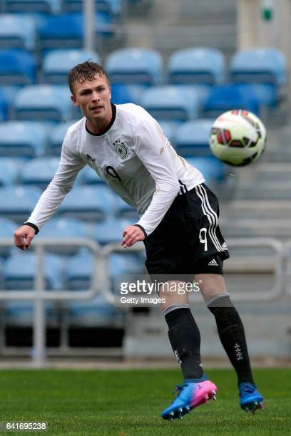 JannFiete Arp of Germany U17 during the U17 Algarve Cup Tournament Match between England U17 and Germany U17 on February 12 2017 in Albufeira Portugal