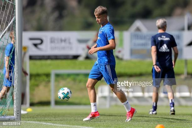 JannFiete Arp of Hamburg controls the ball during the Training Camp of Hamburger SV on July 23 2017 in Laengenfeld Austria