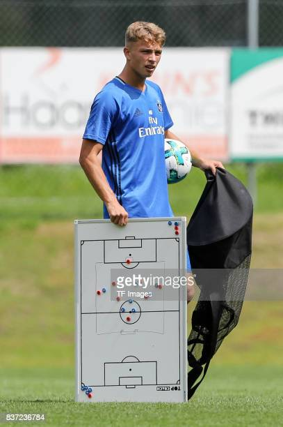 JannFiete Arp of Hamburg looks on during the Training Camp of Hamburger SV on July 23 2017 in Laengenfeld Austria