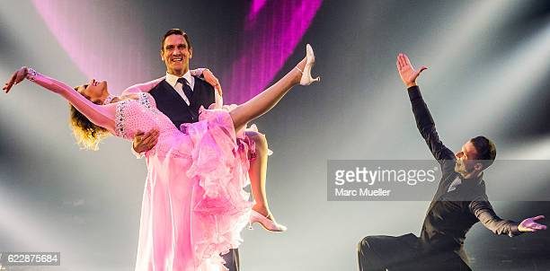Janni Hoenscheid and Peer Kusmagk perform during the first live show of 'Deutschland tanzt' on November 12 2016 in Munich Germany In the first show...