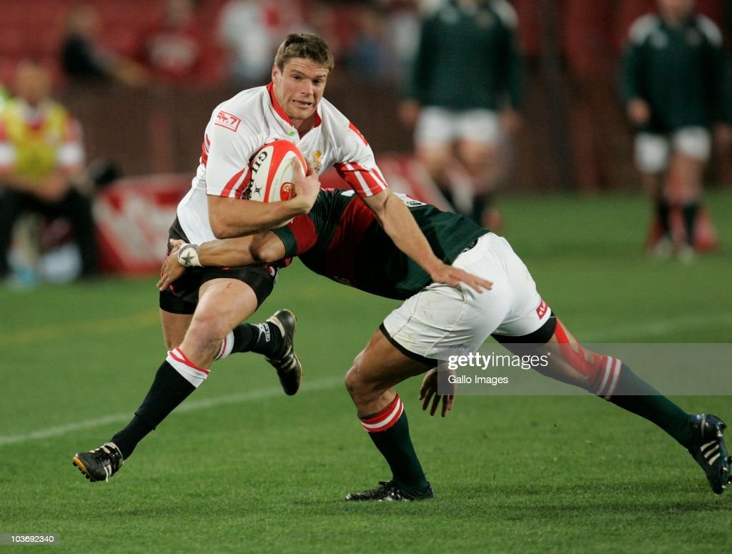 Jannie Boshoff of the Lions during the Absa Currie Cup match between the Xerox Lions and Platinum Leopards at Coca Cola Stadium on August 27, 2010 in Johannesburg, South Africa.