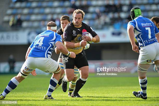 Jannie du Plessis from Montpellier in action during the game between Montpellier Herault Rugby v Newport Gwent Dragons at Altrad Stadium on April 23...