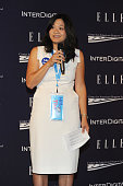Jannie Lau attends a reception hosted by ELLE EditorinChief Robbie Myers and Center for American Progress President Neera Tanden sponsored by...
