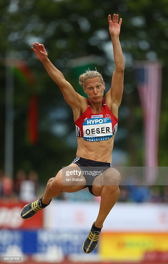 Jannifer Oeser of Germany in action in the Women's Heptathlon long jump during the Hypomeeting Gotzis 2016 at the Mosle Stadiom on May 29, 2016 in Gotzis, Austria.