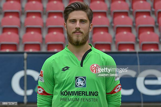 Jannik Huth poses during the official team presentation of 1 FSV Mainz 05 at Opel Arena on July 25 2016 in Mainz Germany