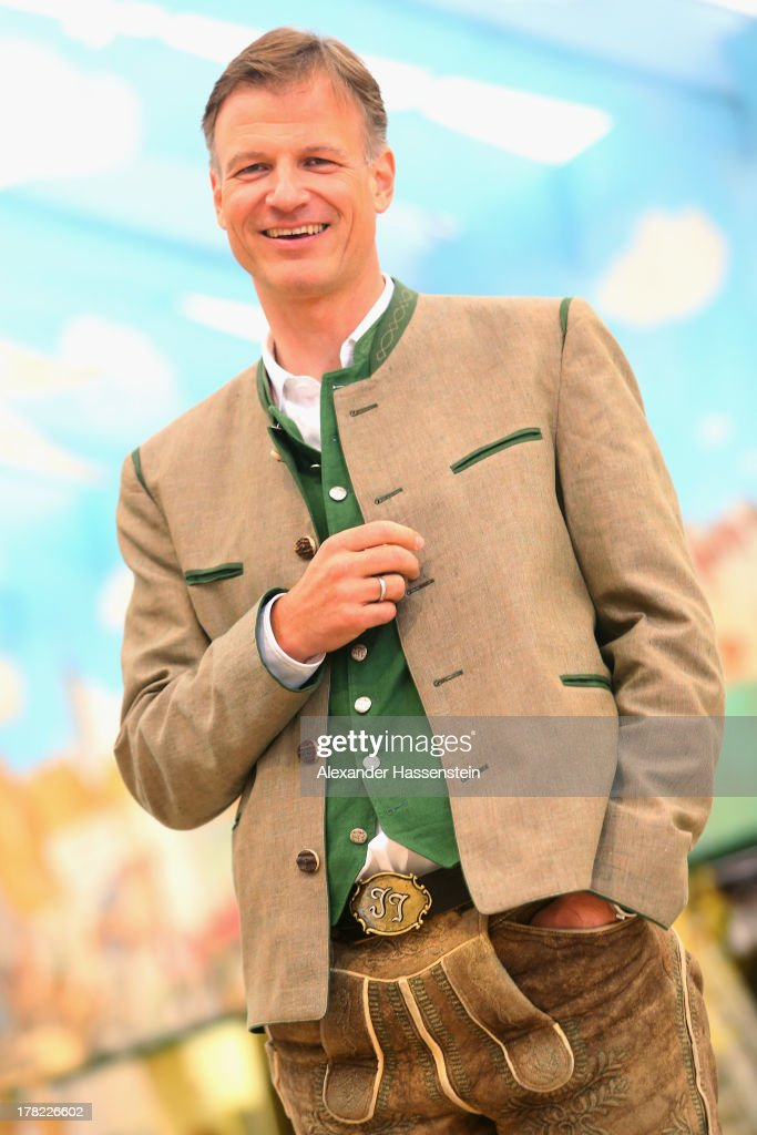 Jannik Inselkammer, CEO of Augustiner Braeu attends the official 2013 Oktoberfest one-liter beer glass presentation three weeks ahead of Oktoberfest on August 27, 2013 in Munich, Germany. Munich Oktoberfest, which opens to the public on September 21, draws millions of visitors and is the biggest beer fest in the world.