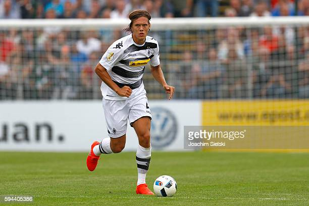 Jannik Vestergaard of Moenchengladbach during the DFB Cup match between SV Drochtersen/Assel and Borussia Moenchengladbach at Kehdinger Stadion on...