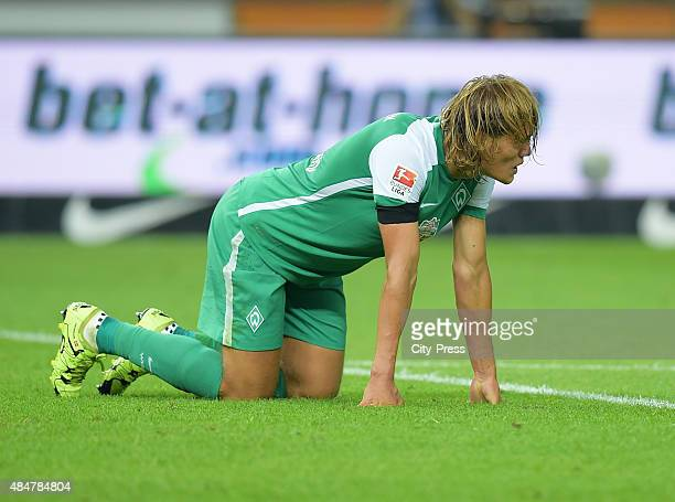 Jannik Vestergaard of Werder Bremen during the game between Hertha BSC and Werder Bremen on August 21 2015 in Berlin Germany