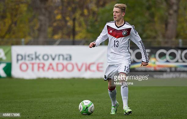 JanNiklas Beste of Germany in action during the international friendly match between U16 Czech Republic and U16 Germany on November 11 2014 in Prague...