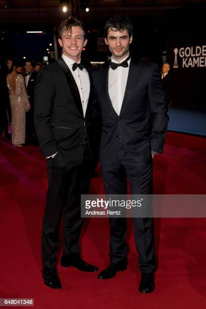 Jannis Niewoehner and Nik Xhelilaj arrive for the Goldene Kamera on March 4 2017 in Hamburg Germany