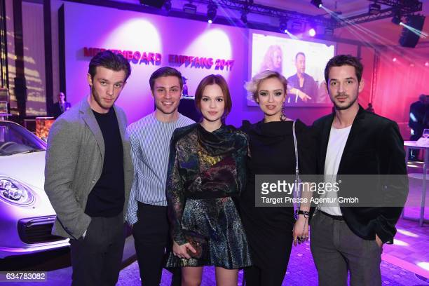 Jannis Niewoehner Jannik Schuemann Emilia Schuele Arnel Taci and Caro Cult the Medienboard BerlinBrandenburg Reception during the 67th Berlinale...