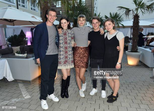 Jannis Niewoehner Lea van Acken Hanna Binke Marvin Linke and Amber Bongard during the 'Ostwind Aufbruch nach Ora' premiere party at H'Ugos in Munich...