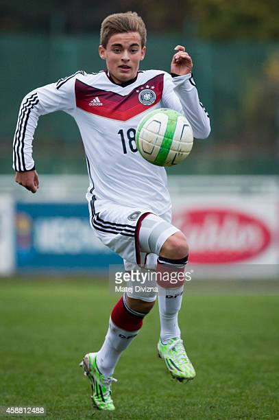 Jano Baxmann of Germany in action during the international friendly match between U16 Czech Republic and U16 Germany on November 11 2014 in Prague...