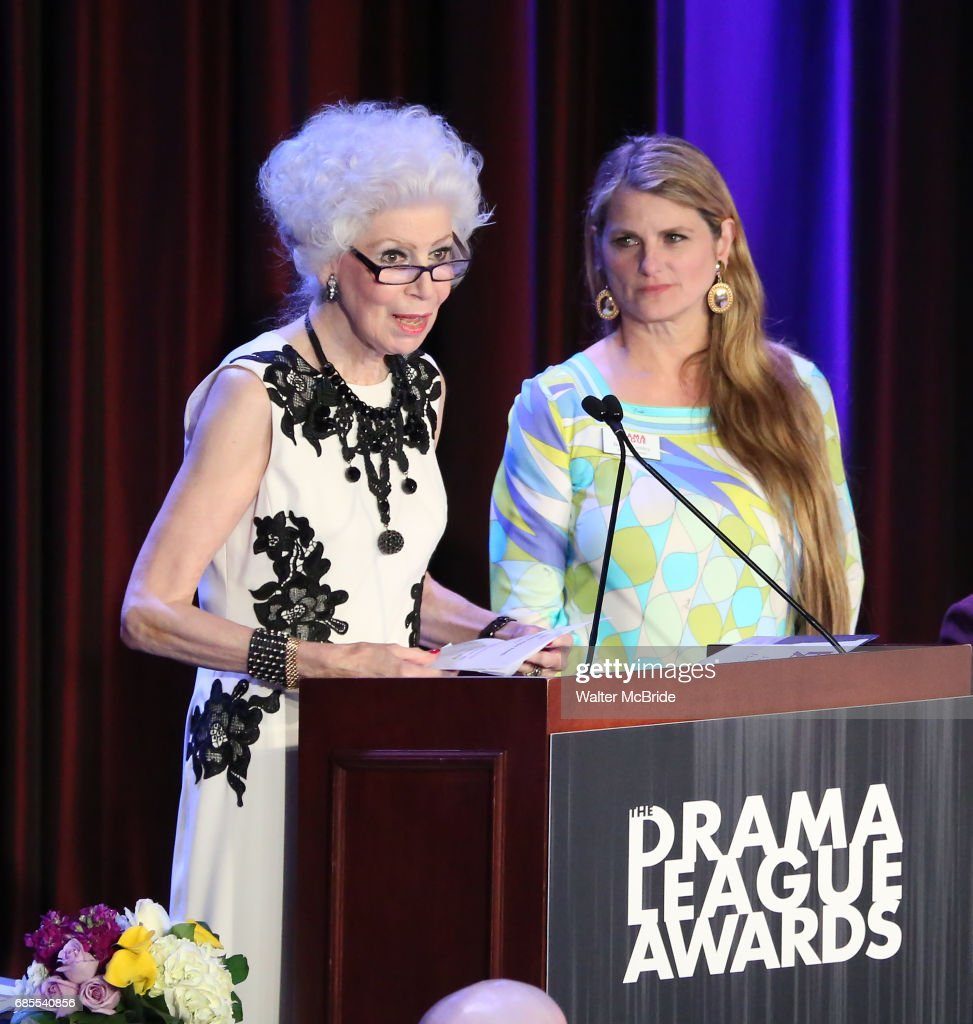 Jano Herbosch and Bonnie Comley on stage at the 83rd Annual Drama League Awards Ceremony at Marriott Marquis Times Square on May 19, 2017 in New York City.