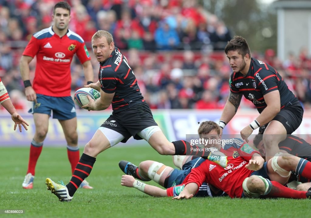 <a gi-track='captionPersonalityLinkClicked' href=/galleries/search?phrase=Jano+Vermaak&family=editorial&specificpeople=538905 ng-click='$event.stopPropagation()'>Jano Vermaak</a> of Toulouse during the Heineken Cup Quarter Final match between Munster and Toulouse at Thomond Park on April 5, 2014 in Limerick, Ireland.