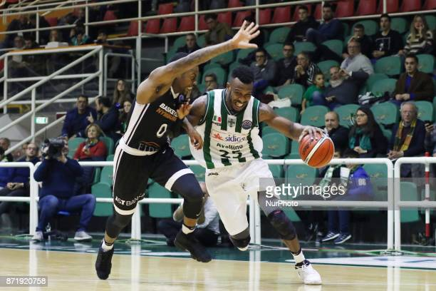 Janos Rich of Sidigas Avellino in action during third day of Champions League match between Sidigas Avellino v Cez Nymburk at Palasport Giacomo Del...