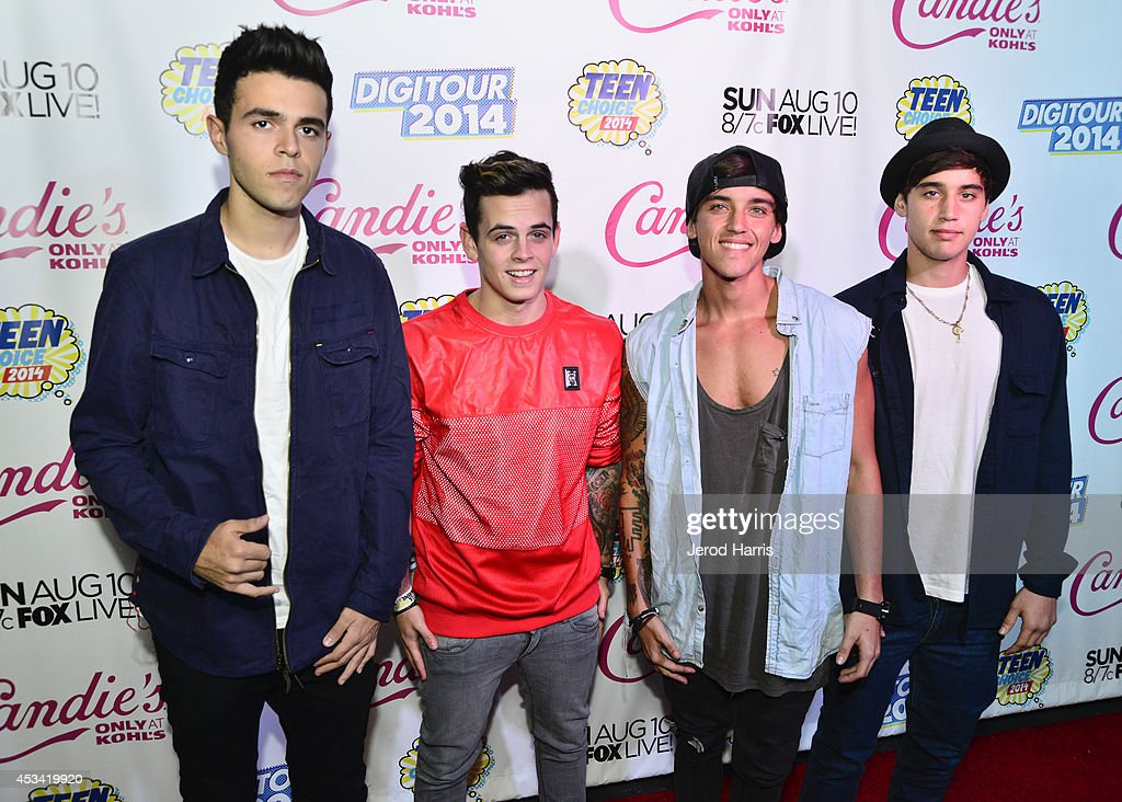 Janoskians attend Candie's Presents The Official Pre-Party For Teen Choice 2014, A DigiTour Production at The Gibson Showroom on August 9, 2014 in Los Angeles, California.
