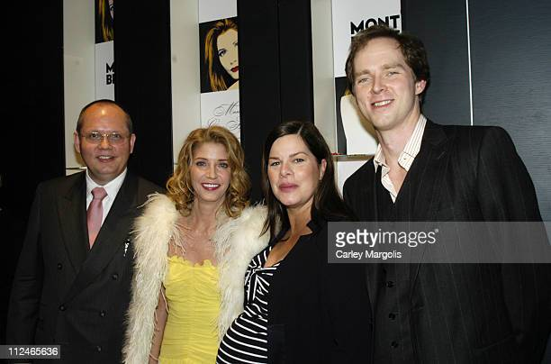 JanPatrick Schmitz president and CEO of Montblanc Candace Bushnell Marcia Gay Harden and Charles Askegaard