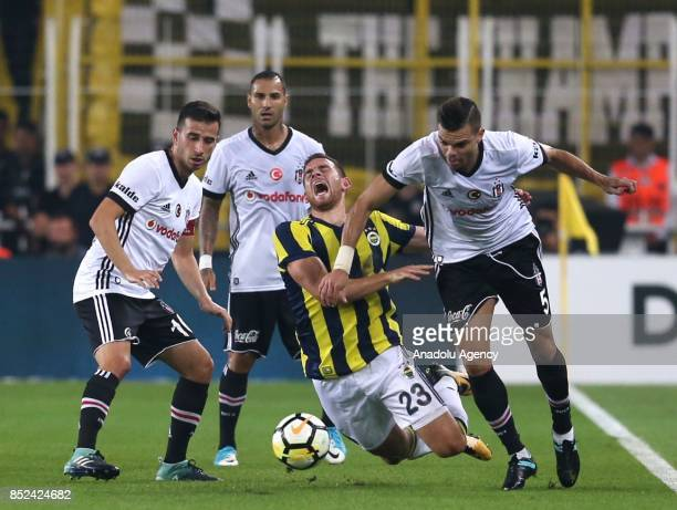 Janssen of Fenerbahce in action against Oguzhan Ozyakup Pepe and Quaresma during the Turkish Super Lig week 6 soccer match between Fenerbahce and...