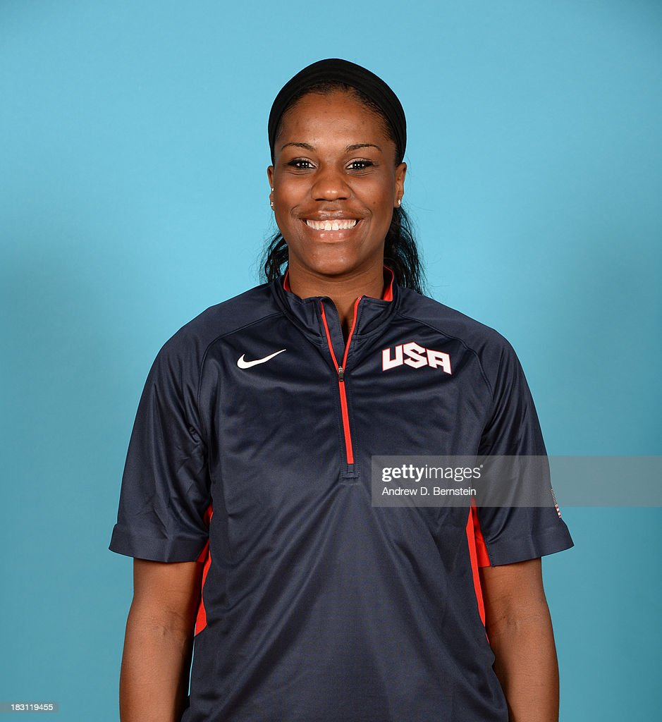 <a gi-track='captionPersonalityLinkClicked' href=/galleries/search?phrase=Jantel+Lavender&family=editorial&specificpeople=4215911 ng-click='$event.stopPropagation()'>Jantel Lavender</a> poses for a head shot during the USA Womens National Team Mini-Camp on October 4, 2013 at the Cox Pavilion in Las Vegas, Nevada.