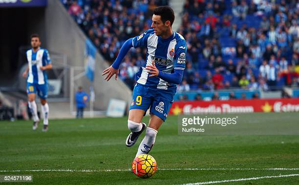 Jorge Burgui during the martch between RCD Espanyol and FC Barcelona corresponding to the week 18 of the spanish league played at the Power8 Stadium...