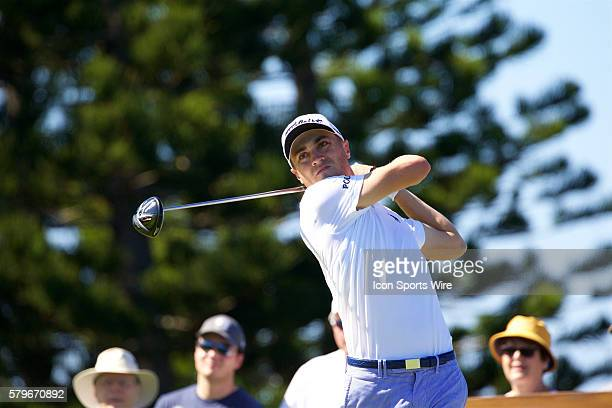 Justin Thomas tees off on number three during the First Round of the Hyundai Tournament of Champions at Kapalua Plantation Course on Maui HI