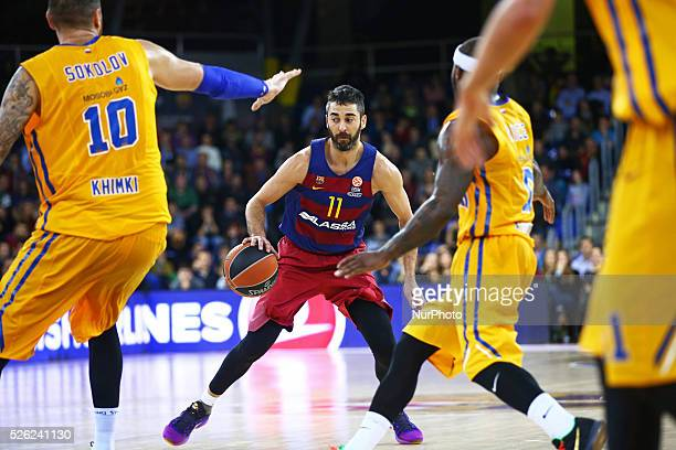 Juan Carlos Navarro during the match between FC Barcelona and Khimki Moscow corresponding to the week 2 of the Top 16 of the Euroleague of basketball...