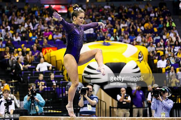 January 09 LSU Tigers Sydney Ewing during the NCAA gymnastics meet between the Oklahoma Sooners and the LSU Tigers at Pete Maravich Assembly Center...