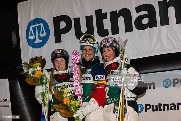 OAKLEY K C USA 1st DUFOURLAPOINTE Justine CAN 2nd DUFOURLAPOINTE Chloe CAN 3rd during the 2015 FIS Freestyle Ski World Cup at the Deer Valley Resort...