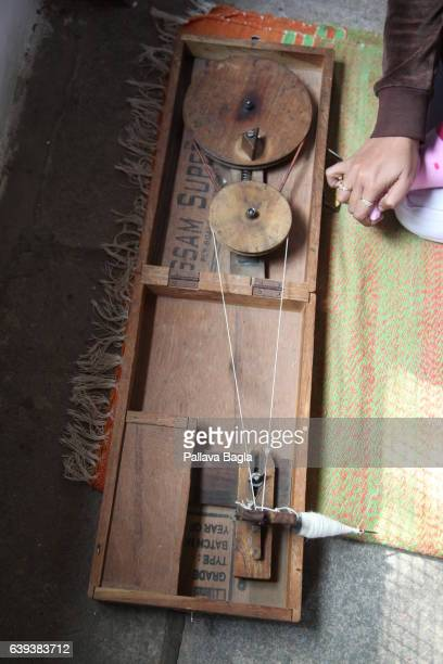 AHEMDABAD GUJARAT – January 10 A portable spinning wheel or charkha described as a volunteer akin to a modern day lap top in portability The...